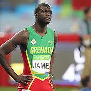 Athletics - Olympics: Day 9  Kirani James of Grenada preparing for the Men's 400m Final at the Olympic Stadium on August 14, 2016 in Rio de Janeiro, Brazil. (Photo by Tim Clayton/Corbis via Getty Images)