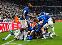 Football - 2019 / 2020 Premier League - Newcastle United vs. Everton<br /> <br /> Dominic Calvert-lewin of Everton celebrates scoring the opening goal of the game, at St James' Park Stadium.<br /> <br /> COLORSPORT/BRUCE WHITE