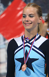 Lina Kogoj of Slovenia, 3rd place in category Individual - Junior during final ceremony at second day of European Cheerleading Championship 2008, on July 6, 2008, in Arena Tivoli, Ljubljana, Slovenia. (Photo by Vid Ponikvar / Sportal Images).