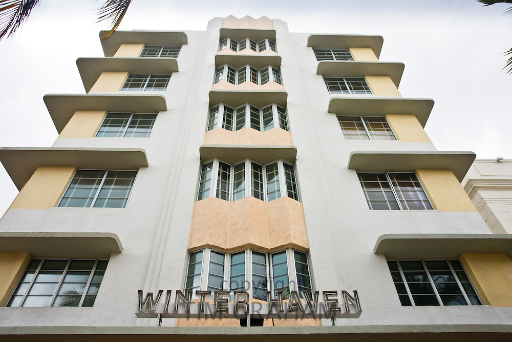 The Winter Haven beachfront boutique hotel on Ocean Drive, South Beach, Miami, USA