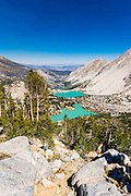 Big Pine Lakes basin under the Palisades, John Muir Wilderness, California USA