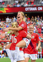 Fotball<br /> VM kvinner<br /> 07.06.2015<br /> Norge v Thailand<br /> Foto: imago/Digitalsport<br /> NORWAY ONLY<br /> <br /> Forward Ada Hegerberg ( 21) of Norway celebrates after scoring during the FIFA 2015 Women s World Cup Group B match between Norway and Thailand at Lansdowne Park in Ottawa<br /> Isabell Herlovsen
