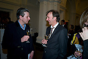 MARK ALEXANDER; KEITH COVENTRY, Mythologies. Haunch of venison. 6 Burlington Gardens. London. 10 March 2009 *** Local Caption *** -DO NOT ARCHIVE-© Copyright Photograph by Dafydd Jones. 248 Clapham Rd. London SW9 0PZ. Tel 0207 820 0771. www.dafjones.com.<br /> MARK ALEXANDER; KEITH COVENTRY, Mythologies. Haunch of venison. 6 Burlington Gardens. London. 10 March 2009