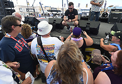 September 14, 2018 - Las Vegas, NV, U.S. - LAS VEGAS, NV - SEPTEMBER 14: NASCAR Monster Energy Cup Series driver Austin Dillon (3) Richard Childress Racing (RCR) Chevrolet Camaro ZL1 signs autographs after speaking with race fans in the Neon Garage September 14, 2018, at Las Vegas Motor Speedway in Las Vegas, NV. (Photo by Will Lester/Icon Sportswire) (Credit Image: © Will Lester/Icon SMI via ZUMA Press)