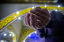 June 11, 2017 - Sao Paulo, Brazil - Muslims participate in prayer that precedes the breaking of the fast during Ramadan, the sacred month of Islam, in the Mesquita Brasil, in Sao Paulo, Brazil, on 11 June 2017. In this period, the faithful can not eat, drink or have sex between sunrise and sunset. (Credit Image: © Cris Faga/NurPhoto via ZUMA Press)