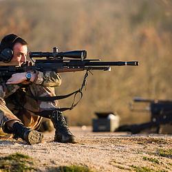 Stage de tir longue distance des tireurs d'élite de la Gendarmerie des Transports Aériens en double dotation PGM Ultima Ratio et Sako Tikka T3 au camp militaire de Caylus. Tirs de précision, exercices de tir longue distance jour et nuit sur cibles C50, C200, cibles basculantes SC2 et cibles mobiles. Etablissement des tables de hausse de chaque fusil sous la direction de Pierre Breuvart.<br /> Mars 2019 / Caylus (82) / FRANCE<br /> Voir le reportage complet (70 photos) https://sandrachenugodefroy.photoshelter.com/gallery/2019-03-Tireurs-delite-GTA-a-Caylus-Complet/G0000lbHyoRI_OKI/C0000yuz5WpdBLSQ