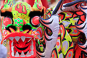 """14 FEBRUARY 2010 - PHOENIX, AZ: A Dragon Dancer dragon on display at the Chinese New Year celebration in Phoenix, AZ. This marks the Chinese """"Year of the Tiger."""" The Chinese New Year Celebration at the COFCO Chinese Cultural Center in Phoenix attracted thousands of people. The celebration featured traditional Chinese entertainment and food.  PHOTO BY JACK KURTZ"""