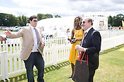 ZAFAR RUSHDIE; SALMAN RUSHDIE; AITA IGHODARO. 2008 Veuve Clicquot Gold Cup Polo final at Cowdray Park. Midhurst. 20 July 2008 *** Local Caption *** -DO NOT ARCHIVE-© Copyright Photograph by Dafydd Jones. 248 Clapham Rd. London SW9 0PZ. Tel 0207 820 0771. www.dafjones.com.