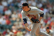 Joe Nathan of Minnesota..The Minnesota Twins defeated the Cleveland Indians 4-2 on Sunday, July 27, 2008 at Progressive Field in Cleveland.