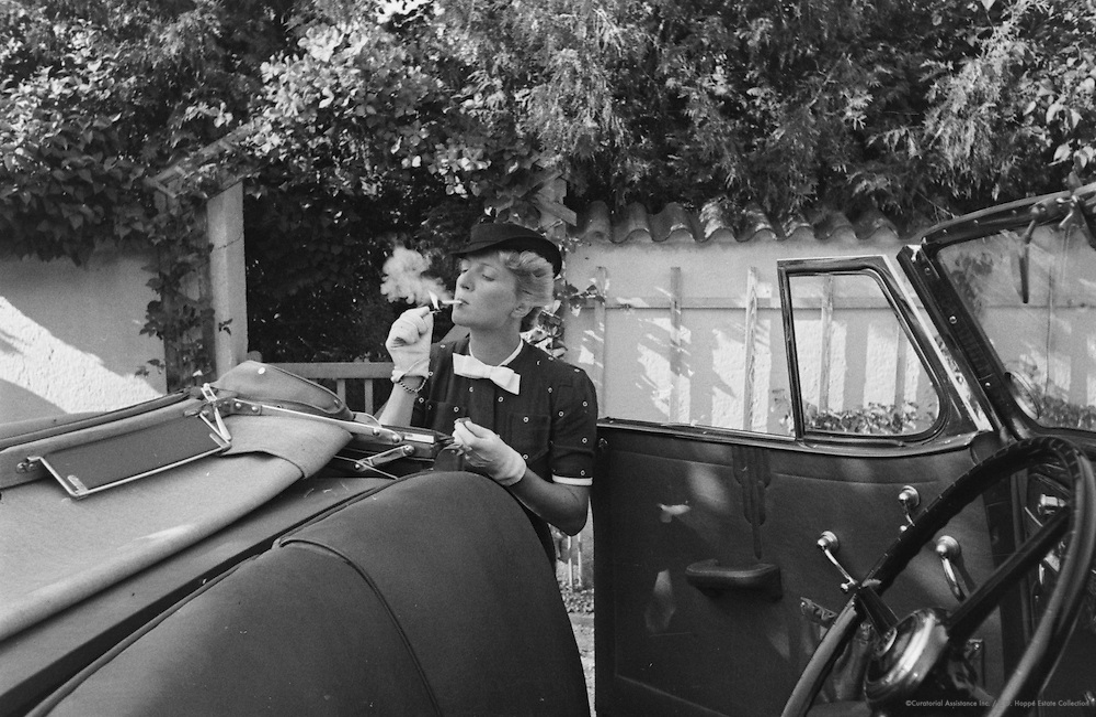 Miss Beiger with car, Molln, Austria, 1937
