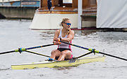 Henley-On-Thames, Berkshire, UK., Princess Royal Challenge Cup, Lola ANDERSON, Sunday, 15/08/2021,  Henley Reach, River Thames, Thames Valley 2021 Henley Royal Regatta  [ Mandatory Credit © Intersport Images],