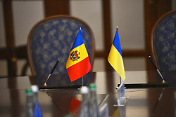 October 3, 2018 - Kyiv, Ukraine - Minister of Foreign Affairs and European Integration of the Republic of Moldova Tudor Ulianovschi attends negotiations with Minister of Foreign Affairs of Ukraine Pavlo Klimkin in Kyiv, capital of Ukraine, October 3, 2018. Ukrinform. (Credit Image: © Sergiy Anishchenko/Ukrinform via ZUMA Wire)