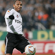 Besiktas's Mehmet AURELIO during their UEFA Europa League Group Stage Group E soccer match Besiktas between Dynamo Kyiv at Inonu stadium in Istanbul Turkey on Thursday November 03, 2011. Photo by TURKPIX