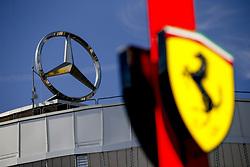 July 20, 2018 - Hockenheim, Germany - Motorsports: FIA Formula One World Championship 2018, Grand Prix of Germany, ..Mercedes and Ferrari Logo  (Credit Image: © Hoch Zwei via ZUMA Wire)