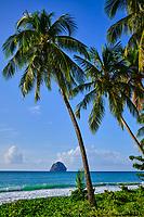 France, Martinique, Le Diamant, la plage et le rocher du Diamant // France, West Indies, Martinique, Le Diamant, the beach and the rock of Diamant