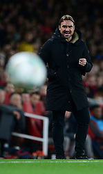 Norwich City head coach Daniel Farke - Mandatory by-line: Alex James/JMP - 24/10/2017 - FOOTBALL - Emirates Stadium - London, England - Arsenal v Norwich City - Carabao Cup