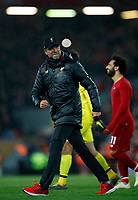 Football - 2018 / 2019 Premier League - Liverpool vs. Huddersfield Town<br /> <br /> Jurgen Klopp manager of Liverpool celebrates after the match at Anfield.<br /> <br /> COLORSPORT/LYNNE CAMERON