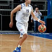 Anadolu Efes's Sasha VUJACIC during their Turkish Basketball League match Anadolu Efes between Hacettepe Universitesi at Arena in Istanbul, Turkey, Sunday, November 20, 2011. Photo by TURKPIX