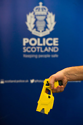EMBARGOED TILL 16:00 14 DECEMBER 2017<br /> <br /> Pictured: Taser X2<br /> <br /> Deputy Chief Constable Johnny Gwynne was at Tullialan Police College today tol make an announcement on police officer safety with 500 sadditional officers being trained and deployed with tasers to combat the number of incidents where officers are injured.<br /> <br /> Ger Harley | EEm 14 December 2017