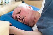 elderly man portrait while sleeping