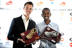 October 20, 2018 - Saint Trond, France - Koen Naert Spike Golden Or Gouden, Bashir Abdi Spike Silver Argent Zilver pictured during the ceremony of the Golden Spike Athletics Awards 2018 on October 20, 2018 in Sint-Truiden, Belgium, 20/10/2018 (Credit Image: © Panoramic via ZUMA Press)