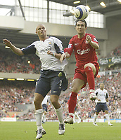 Photo: Aidan Ellis.<br /> Liverpool v West Ham Utd. The Barclays Premiership.<br /> 29/10/2005.<br /> Liverpool's Luis Garcia and West Ham's Paul Konchesky