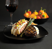 The Filet and South African Broiled Lobster Tail from Chateau Grille located in Branson, MO. Photo by Brandon Alms Photography