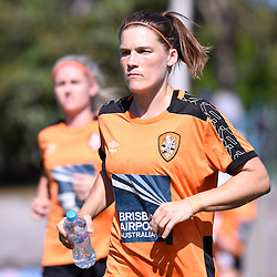 BRISBANE, AUSTRALIA - JANUARY 1: Brooke Spence of the Roar warms up during the round 10 Westfield W-League match between the Brisbane Roar and Melbourne Victory at AJ Kelly Park on January 1, 2017 in Brisbane, Australia. (Photo by Patrick Kearney/Brisbane Roar)