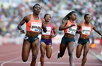 Friidrett ,  11. juni 2015 , Diamond League , Bislett Games , Oslo<br />  Atheltics<br /> Murielle Ahoure , CIV , winner 100 m<br /> Jessica Young<br /> Ezinne Okparaebo