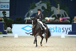 Neumayer Astrid, (AUT), Rodriguez 4<br /> Grand Prix Dressage München 2015<br /> © Hippo Foto - Stefan Lafrentz