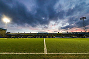 General stadium view inside the Priestfield Stadium before the EFL Sky Bet League 1 match between Gillingham and AFC Wimbledon at the MEMS Priestfield Stadium, Gillingham, England on 24 November 2020.