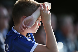 A young Bristol Rovers fan watches the action - Mandatory by-line: Arron Gent/JMP - 21/09/2019 - FOOTBALL - Cherry Red Records Stadium - Kingston upon Thames, England - AFC Wimbledon v Bristol Rovers - Sky Bet League One