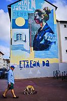 France, Pyrénées-Atlantiques (64), Bayonne, street art dans le quartier Saint-Esprit// France, Pyrénées-Atlantiques (64), Bayonne, street art in the Saint-Esprit district