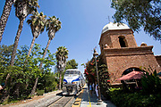 Amtrak Train, San Juan Capistrano Train Depot, California, USA