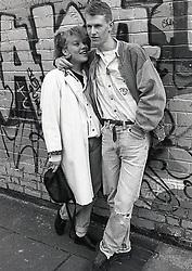 Young couple, Nottingham UK 1989