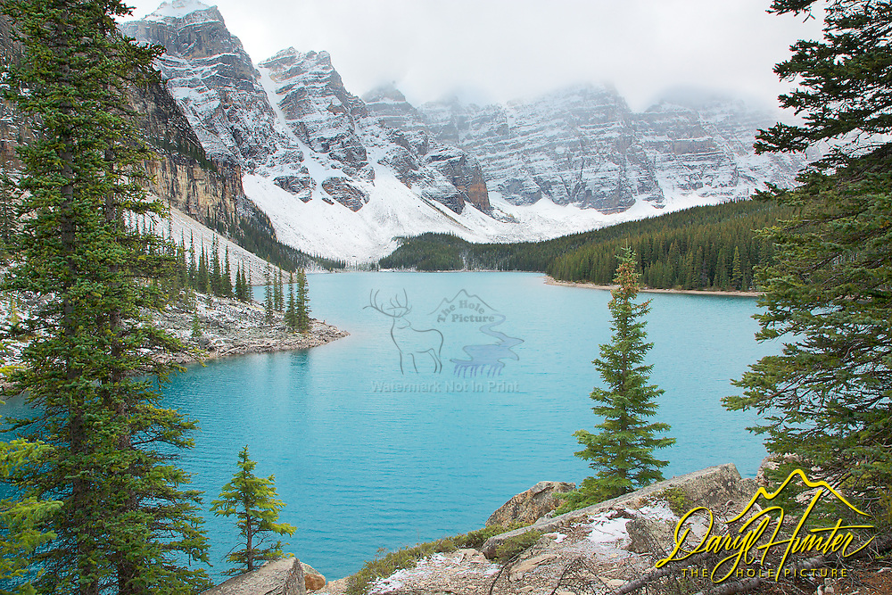 Moraine Lake, Stormy Day, Canadian Rockies, Banff National Park