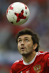 June 24, 2017 - Kazan, Russia - Yury Zhirkov of Russia national team during the Group A - FIFA Confederations Cup Russia 2017 match between Russia and Mexico at Kazan Arena on June 24, 2017 in Kazan, Russia. (Credit Image: © Mike Kireev/NurPhoto via ZUMA Press)
