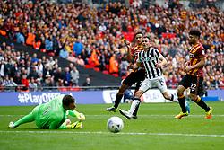 Jed Wallace of Millwall fires a shot at goal  - Mandatory by-line: Matt McNulty/JMP - 20/05/2017 - FOOTBALL - Wembley Stadium - London, England - Bradford City v Millwall - Sky Bet League One Play-off Final