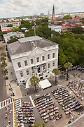 Overview of the City Hall and city of Charleston during opening ceremonies for the Spoleto Festival USA on May 25, 2012 in Charleston, South Carolina. The 17-day performing arts festival will include more than 140 performances on stages throughout Charleston.
