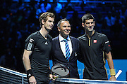 During Novak Djokovic vs Andy Murray match at the Barclays ATP World Tour Finals, O2 Arena, London, United Kingdom on 16 November 2014 © Pro Sports Images
