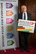 Mark Lazarowicz MP  supporting the Enough Food for Everyone?IF campaign. .MP's and Peers attended the parliamentary launch of the IF campaign in the State Rooms of Speakers House, Palace of Westminster. London, UK.