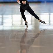 September 18, 2010 - Kearns, Utah - Matt Plummer races in long track speedskating time-trials held at the Utah Olympic Oval.