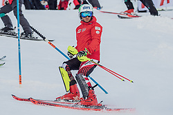 """29.01.2019, Planai, Schladming, AUT, FIS Weltcup Ski Alpin, Slalom, Herren, Streckenbesichtigung, im Bild Marc Digruber (AUT) // Marc Digruber of Austria during course inspection for the men's Slalom """"the Nightrace"""" of FIS ski alpine world cup at the Planai in Schladming, Austria on 2019/01/29. EXPA Pictures © 2019, PhotoCredit: EXPA/ Dominik Angerer"""