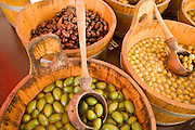 03 AUGUST 2007 -- BERN, SWITZERLAND: Olives for sale in a public market in Bern, the federal capital of Switzerland. The city was founded in the 12th century by Berchtold V, Duke of Zahringen, who established a fort on the site of the present day city. Because of its well maintained downtown core, preserved arcades and fountains, Bern is a UNESCO World Heritage Site. Photo by Jack Kurtz/ZUMA Press