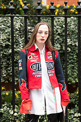 Sabrina Carder (blogger) during London Fashion Week Autumn/Winter 2017 in London.  Picture date: Saturday 18th February 2017. Photo credit should read: DavidJensen/EMPICS Entertainment