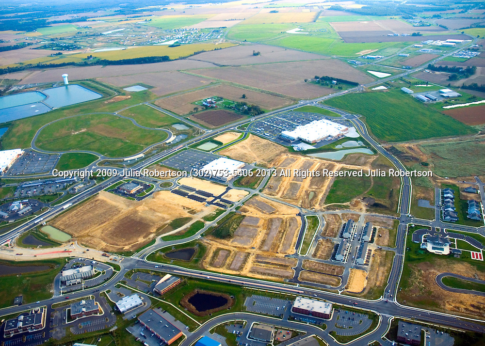 Aerial view of land in Middletown, De Aerial view of Middletown Delaware<br /> Amazon Distribution Facility under construction