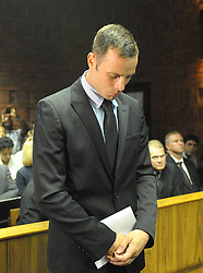 Paralympian Oscar Pistorius appears at the Pretoria Magistrate Court, South Africa, on Feb. 20, 2013. The bail hearing of murder-accused Pistorius resumed at the Pretoria Magistrate Court on Wednesday with a large media contingent scrambling to get inside, February 20, 2013. Photo by Imago / i-Images...UK ONLY