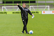 Forest Green Rovers manager, Mark Cooper takes the training session during the Forest Green Rovers Press Conference and Training session at the New Lawn, Forest Green, United Kingdom on 12 May 2017. Photo by Shane Healey.
