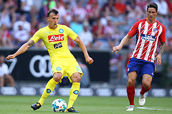 August 1, 2017 - Munich, Germany - Vlad Chiriches of Napoli and Fernando Torres of Atletico de Madrid during the first Audi Cup football match between Atletico Madrid and SSC Napoli in the stadium in Munich, southern Germany, on August 1, 2017. (Credit Image: © Matteo Ciambelli/NurPhoto via ZUMA Press)