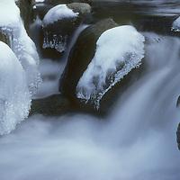 Bishop Creek in winter, Sierra Nevada, CA.